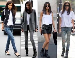 Ideas para vestir con una camiseta blanca