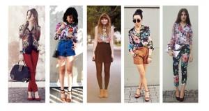Ideas para combinar una blusa floreada