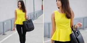 ¿Cómo lucir una blusa peplúm?
