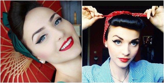maquillaje vintage