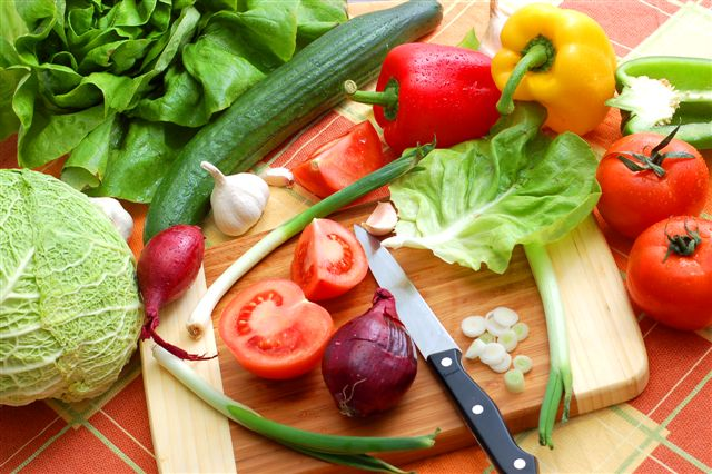 delicious fresh vegetables studio shot