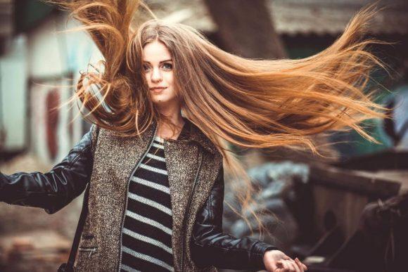 cabello en el invierno