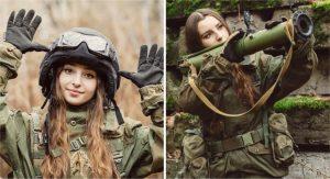 Se viste como soldado y rompe corazones en todo internet. Su belleza puede detener cualquier guerra
