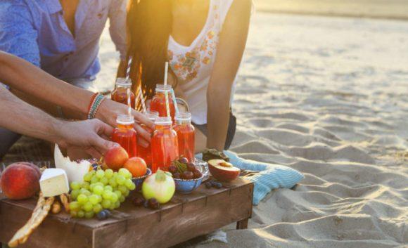 comidas para llevar a la playa
